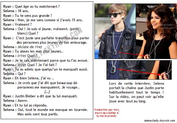 """__MARDI 8 MARS____ Selena était présente chez Ryan Seacrest pour présenter sa nouvelle __MARDI 8 MARS____ chanson """"Who Says"""". Qu'en penses-tu ? Personnellemnt, j'adore :)"""