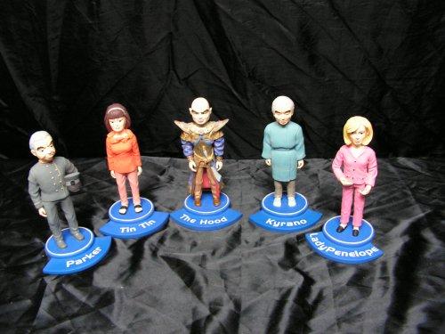 Les résines, TB1, TB2, TB3 (reste introuvable)...TB4 et TB5 ainsi que la famille Tracy au complet, Tin-tin, Penelope, Parker, Kyrano, Brains et the Hood.