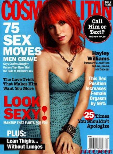 Hayley en couverture de Cosmopolitan. ÉDITÉ!
