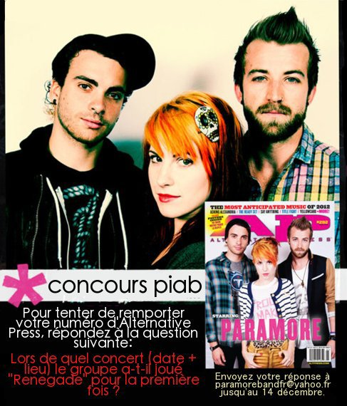 Concours PIAB: Alternative Press