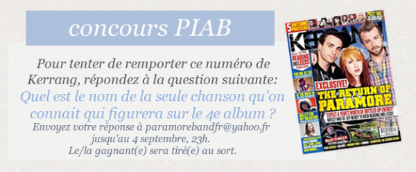 Concours PIAB !