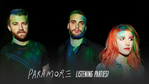 Pré-écoutes de l'album Paramore