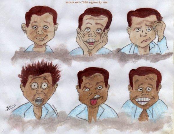 Caricatures à l'aquarelle