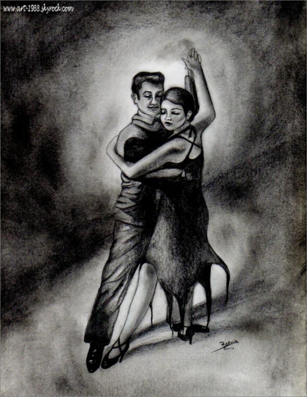 Tango <3 crayon graphite