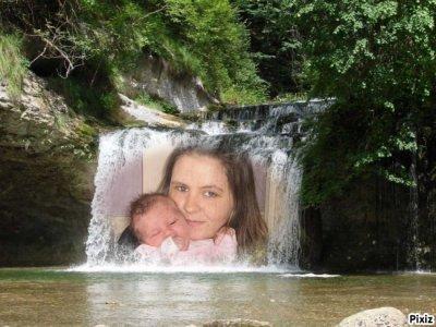 Ma fille victoria et moi