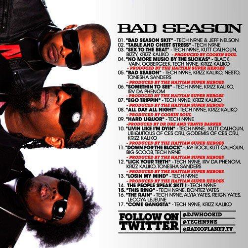 Tech N9ne - Bad Season (Tracklist)(Fake?)