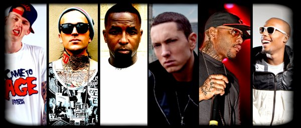 Eminem, Tech N9ne, Yelawolf, B.O.B, Slaughterhouse & Machine Gun Kelly au Cypher !