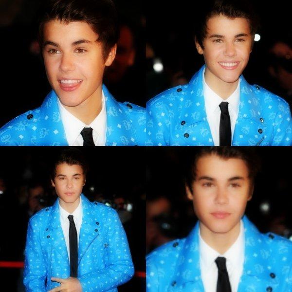 Justin , sur le tapis rouge des NMA.