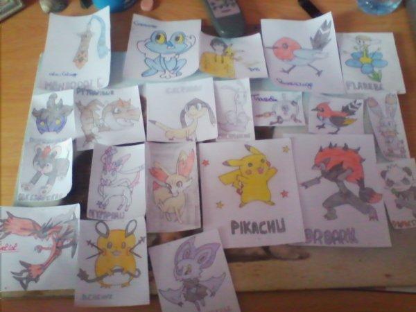 Mes dessins Pokémons