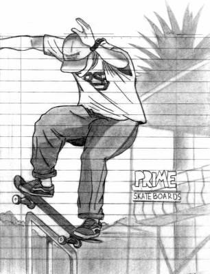 Dessin skate le skate - Dessin skateboard ...