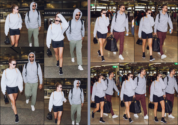 """"""" -04/11/18 •- Sofia Richie et son chéri Scott atterrissaient à l'aéroport « LAX » situé à Los Angeles en Californie.Un peu plus tot (photos de droite), ils arrivaient à l'aéroport de Melbourne en Australie afin de prendre leur vol vers les Etats-Unis. Un petit bof pour So'. ."""