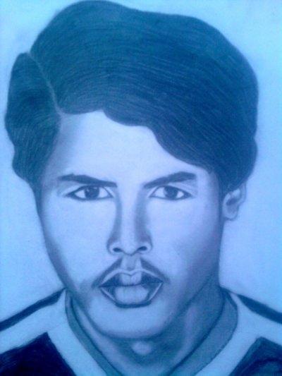 j'ai dessiné se portrai de mon pere en 1977
