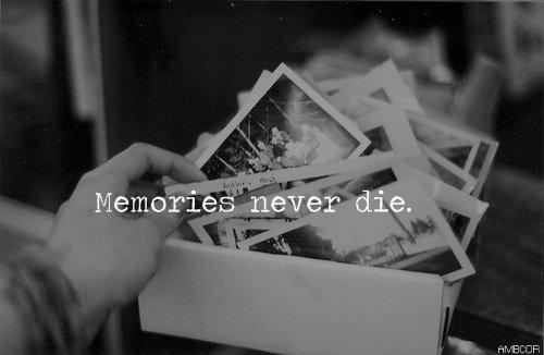 Les souvenirs, une chose qu'on oubliera jamais.