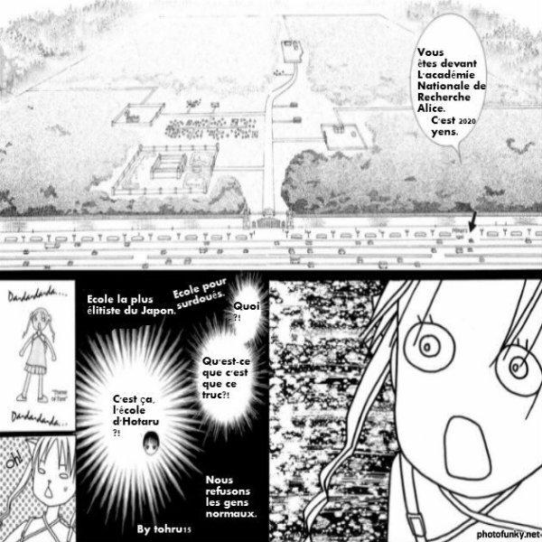 Partie drôle du manga L'académie Alice 1