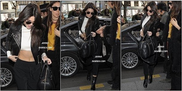 -- 26/01/2016: Sur les premier images Kendall à était de retour à son hôtel à Paris. J'adore comment elle est habiller un TOP pour moi. Sur les deuxième image Kendall à était vu de retour à son l'Hôtel George V à Paris. J'adore Kendall à détacher ses cheveux elle est carrément sublime rien à redire encore un TOP pour moi. Sur les troisième images découvrez Kendall à la Fashion Week S / S16 - Chanel à Paris. Je la trouve splendide ! La robe est magnifique juste le makeup dont je ne suis pas trop fan mais sa va, et la coiffure original pour un défiler sa passe.  --