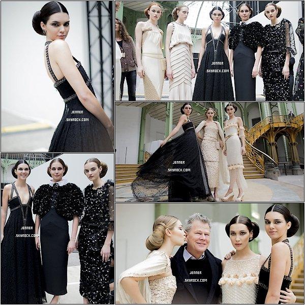 -- 26/01/2016: Découvrez d'autres photos de Kendall Jenner a la Fashion Week à Paris, au coter de Gigi et Bella Hadid. Je trouve Kendall toujours aussi magnifique cette robe est sublime est les clichés et le décor est magnifique. --