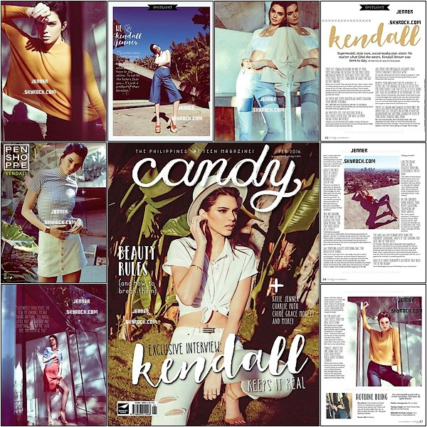 -- Kendall Jenner couvre Bonbons Magazine Philippines, Février ici 2016. Vos Avis  --