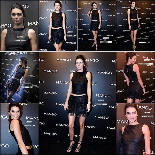 -- 28/01/2016: Kendall Jenner est la nouvelle égérie Mango. D'ailleurs, la star est actuellement en Espagne pour la nouvelle campagne de la marque. Notre chère Kendall ce cache bien le visage par les paparazzi dommage pour nous, mais sa robe à l'air très jolie, hâte de voir les clichés.   --