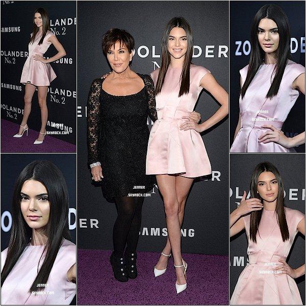 -- 09/02/2016: Kendall Jenner était à l'avant première de Zoolander 2 avec sa mère Kris Jenner à New York. Je trouve très jolie la robe de Kendall, j'aime aussi ces chaussures, pour moi c'est un TOP! Vos Avis? --