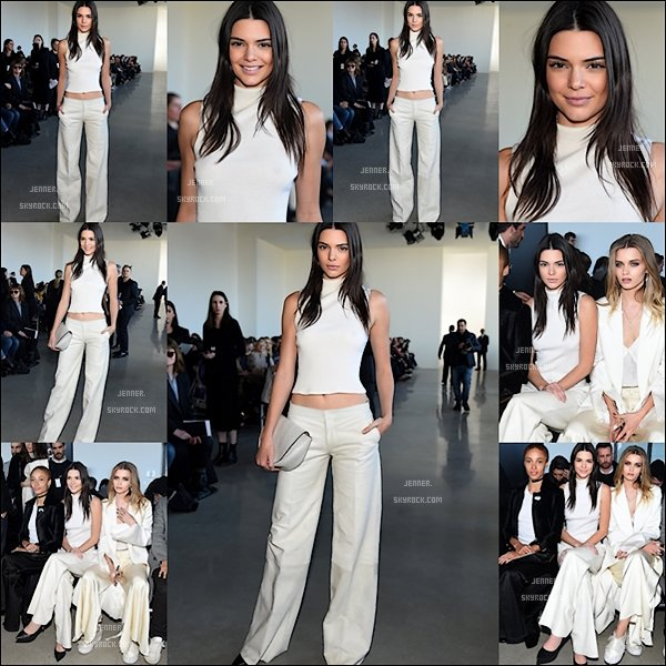 -- 18/02/2016: Kendall Jenner assiste à l' automne 2016 défilé de mode Calvin Klein Collection lors de la Fashion Week de New York au printemps Studios. Je trouve Kendall totalement sublime ! --
