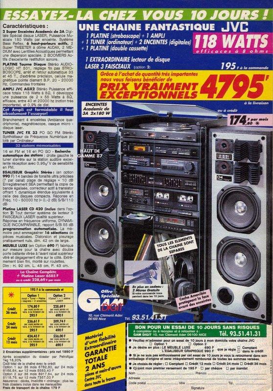 chaine  hifi  de  1985    !!!!
