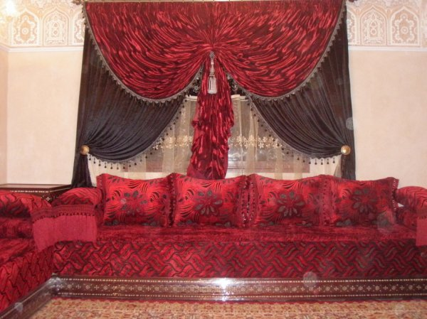 rideau marocain blog de salon marocain 2012. Black Bedroom Furniture Sets. Home Design Ideas