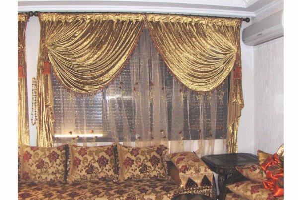 Rideau marocain perfect rideaux salon marocain u rouen u couvre inoui decoration maison salon - Modele de rideau pour salon ...
