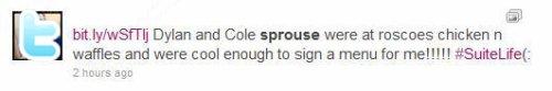 Menu signé avec Dylan et Cole + Du nouveau (: