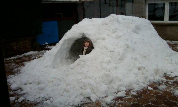Morgane dans son igloo