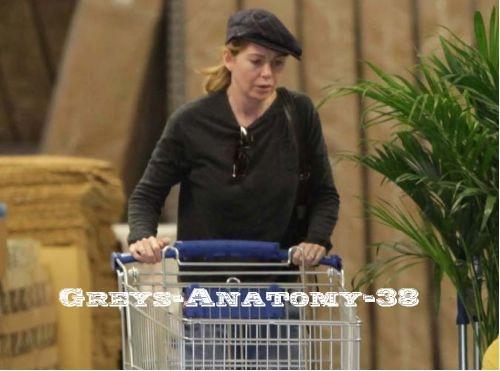 Ellen faisant ses courses