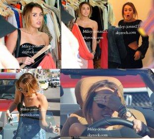 Le 03/02/12 : Miley faisant du shopping avec une amie