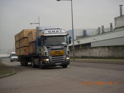SCANIA & voiture pilote S.N.A.T