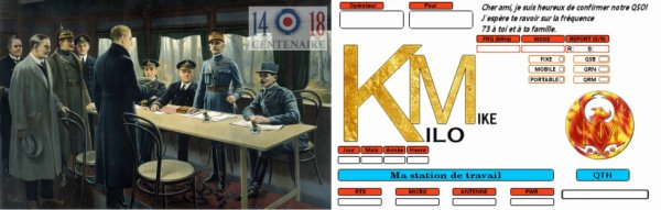 QSL double Groupe KM