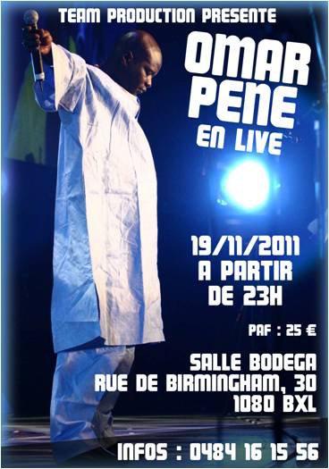 évenement:Omar Péne en concert le 19 nov 2011 à la bodéga......