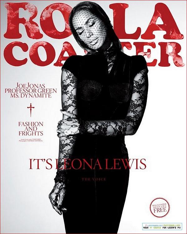 """LEONA LEWIS : EN COUVERTURE DU MAGAZINE """"ROLLACOASTER"""""""