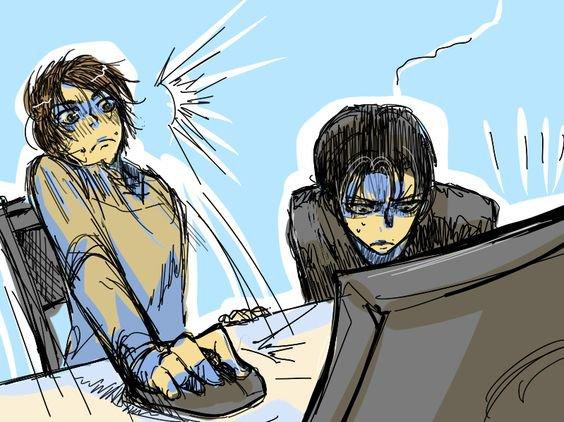 Voici La réaction de Levi ( Rivaille) x Eren !