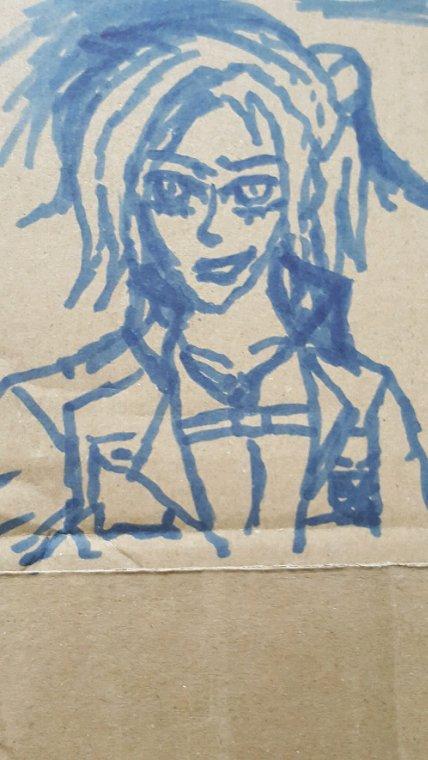 Encore un dessin sur carton fait par moi