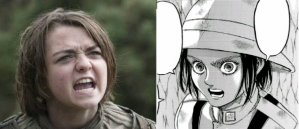 Terrible la comparaison xd Arya Stark /Gaby