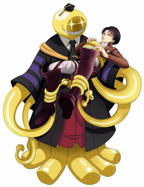 Koro Sensei est passé en Mach 20 apres avoir expliquer au élèves qu'il allait leurs chercher un professeur qui assisteras Karasuma sensei et Regarder qui c'est qu'il a ramené avec lui O.O