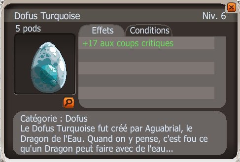 Aquisitions de Dofus
