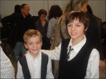 """Mattéo et Lucas lors du casting de l'émission """"Qui sera le meilleur ce soir ?"""""""