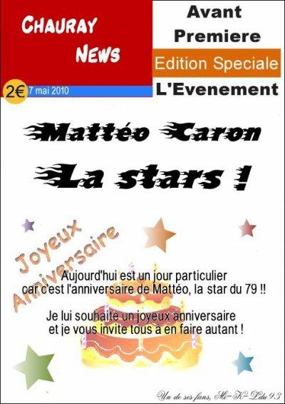 9ème anniversaire : Happy Birthday Mattéo !
