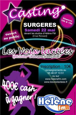 """Casting """"Les voix lactées"""" à Surgères !"""