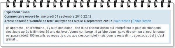 """La """"Rentrée en fête"""" au foyer de Loiré approche !"""