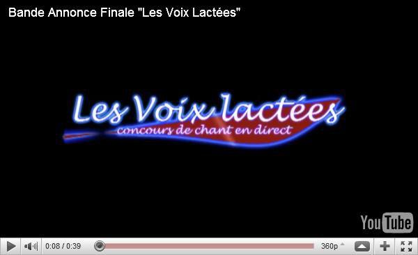 """Concours """"Les voix lactées"""" : Bande annonce et diaporama"""