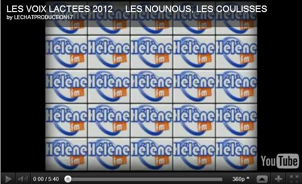 Les voix lactées 2012 : Replay de la soirée du 7 avril 2012 + Vidéo des coulisses