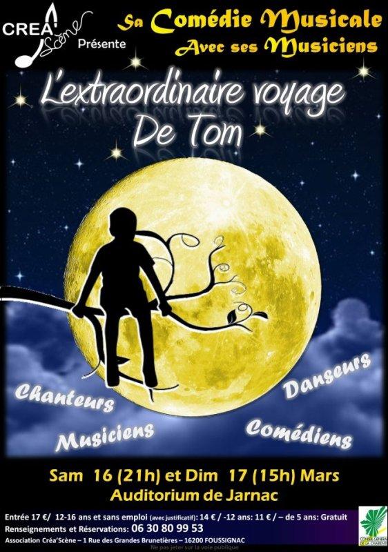 """La comédie musicale """"L'extraordinaire voyage de Tom"""" de l'association Créa'scène"""