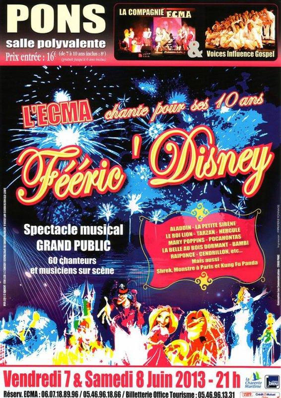 """Le spectacle """"Féeric' Disney"""" de l'ECMA à Pons"""