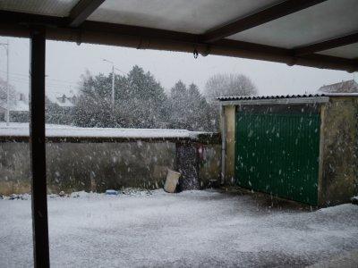 la neige et de retour