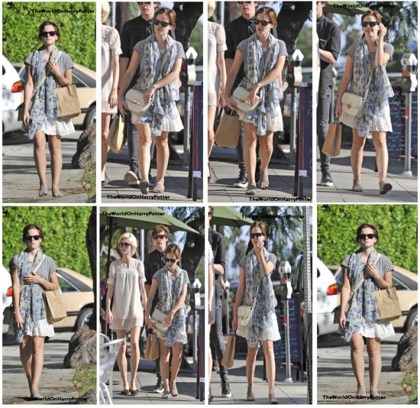 01/08/11 : Emma a été apercue a Santa Monica .